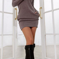 Casual Long Sleeved  Bodycon Dress
