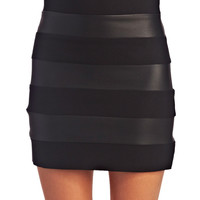 Faux Leather Striped Mini Skirt | Wet Seal