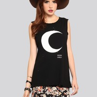 Moon Child Muscle Tank - What's New | GYPSY WARRIOR