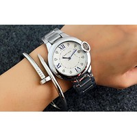 Cartier women men exquisite fashion watch Silver rose gold B-Fushida-8899