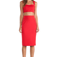 Black Halo Kayley 2 Piece Dress in Red