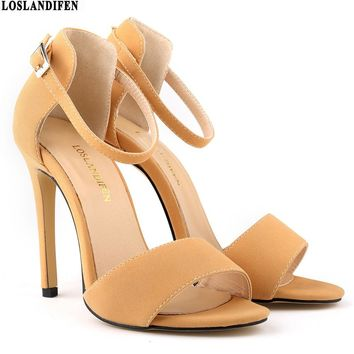 2017 new Women Pumps Sexy Women Shoes Summer Wedding Shoes Soft Leather High Heels Shoes Woman Thin Heels Ladies Shoes