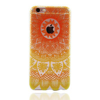 Hollw Out Orange Lace Floral Case for iPhone 7 7Plus & iPhone se 5s 6 6 Plus Best Protection Cover +Gift Box-87