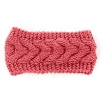Rose Cable Knit Headband