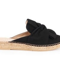 Palafolls Suede Knotted Slip-on Mules - Black