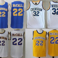 ONETOW Basketball Jersey McCall 22# 32# Movie Love and Basketball Jersey CRENSHAW Cool Basketball Jersey Shirts Street Basketball