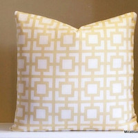 Yellow Pillow Cover -  Decorative Throw Pillow Cover - All Sizes Available