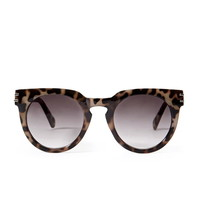 Tortoiseshell Notched-Bridge Sunglasses