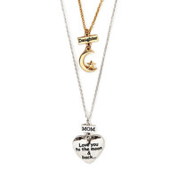 Mother Daughter To the Moon & Back Pendant Necklaces