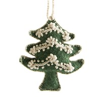 Tree Embroidered Holiday Ornament