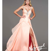 Peach Chiffon Sweetheart Breakaway Prom Gown