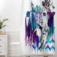 Holly Sharpe Tribal Girl Colourway Shower Curtain And Mat