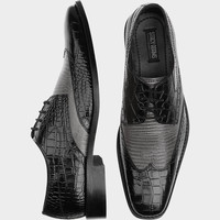 Stacey Adams Amato Black and Gray Wingtip Lace Ups - Dress Shoes   Men's Wearhouse