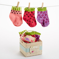 """Baby Aspen """"Fruity Booties"""" 3 Pairs of Socks for Baby"""