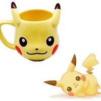 Anime Pokemon Pikachu Cute Mug Cup Pocket Monster Comic Gift Free Shipping