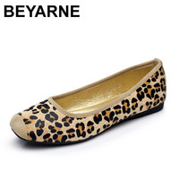 Leopard Brand Luxury Shoes Women Flats Square Toe Slip On Loafers Ladies Shoes Japanese Fashion Plus Size Women Shoes 35-40