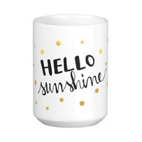 Hello Sunshine Golden Dots Classic White Coffee Mug