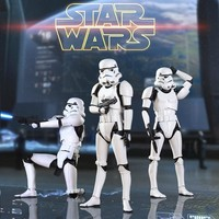 Star Wars Force Episode 1 2 3 4 5  Anime Movie Revoltech Joints Movable Action Figure Stormtrooper White Knight Model for Collection Men Toy AT_72_6