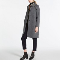 WOMEN IDLF TWEED SOUTIEN COLLAR COAT