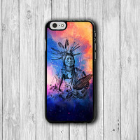 Galaxy Tribal Indian Man iPhone 6 Cases iPhone 6 Plus, iPhone 5S, iPhone 5 Case, iPhone 5C Case, iPhone 4S Case, iPhone 4 Hipster Printed