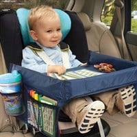 AUTOSON New Child Car Seat Tray Waterproof Storage Children Toy Holder Tray Desk Infant Stroller Board Table Child Car Seat Tray