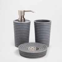 GRAY RESIN BATHROOM SET - Accessories - Bathroom | Zara Home United States
