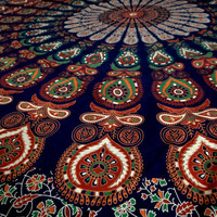 Bedspread peacock feather mandala tapestry hippie tapestries bedding throw room divider curtain indian handmade dorm decor wall hanging