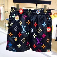 LV Louis Vuitton Fashion Men Casual Print Sport Running Shorts