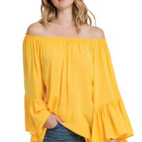 Top Off Shoulder Ruffle RY555
