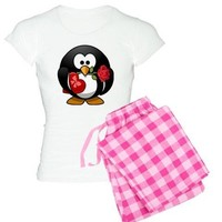 PENGUIN LOVE GIFT AND ROSE PAJAMAS