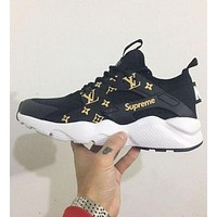 Nike Air Huarache Supreme Lv White/Red Fashion Women/Men Casual Running Sport Shoes Black