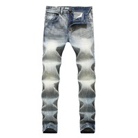 Men's Fashion Vintage Denim Jeans [264171028509]