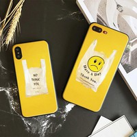yellow aesthetic plastic bag pattern Soft Silicone Phone Case Shell cover For Apple iPhone 5 5s Se 6 6s 7 8 Plus X XR XS MAX