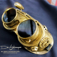 Victorian Gold Metal Finish Steampunk Goggles by Dr. Sharp