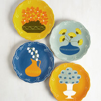 60s Save Bloom For Dessert Plate Set by ModCloth