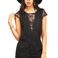 Lace Dive Romper