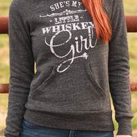 She's My Little Whiskey Girl | Off-The-Shoulder Sweatshirt