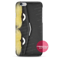 Leather Clutch with Fox Fur Black Fendi  iPhone Case 3, 4, 5, 6 Cover