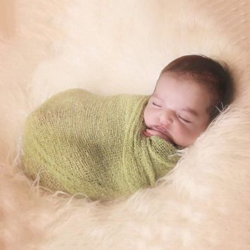 Newborn Photography Props - Woven Photo Blanket - Baby Wrap Blanket for Photos