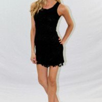Black Crochet Lace Dress - Always a Runway Clothing