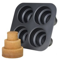Chicago Metallic Multi Tier Cake Pan 4 Cavity, 10.6 x 9.60 x 4.5 Inch:Amazon:Kitchen & Dining