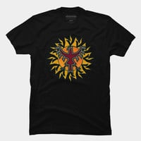 Phoenix Rising Over The Sun T Shirt By Fringeman Design By Humans
