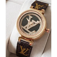 LV high-end men's and women's vintage quartz watch