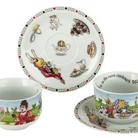 Alice in Wonderland 8oz.Tea Cups & Saucers