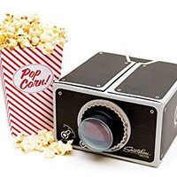 ELEGIANT 8x Zoom Portable DIY Cardboard Cinema Smartphone Mobile Phone Projector for iPhone 6 5s Sumsang (Black)