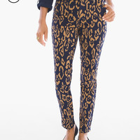 Chico's Petite Animal-Print Girlfriend Ankle Jeans
