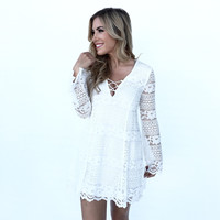 Fade Into You Lace Dress In Ivory