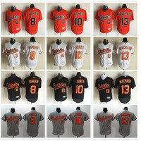 2017 Baltimore Orioles Baseball Jerseys Flexbase 10 Adam Jones Jerseys Men 13 Manny Machado Cool Base Baseball Jersey 8 Cal Ripken Jr Shirts