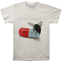 Red Hot Chili Peppers Men's  Fly Print T-shirt Grey Rockabilia