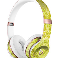Lime Green Cauliflower Damask Pattern Full-Body Skin Kit for the Beats by Dre Solo 3 Wireless Headphones